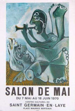 Lithographie Picasso - '' Salon de Mai ''