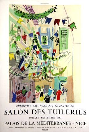 Lithographie Dufy - Salon des Tuileries  Palais de la Mediterranée