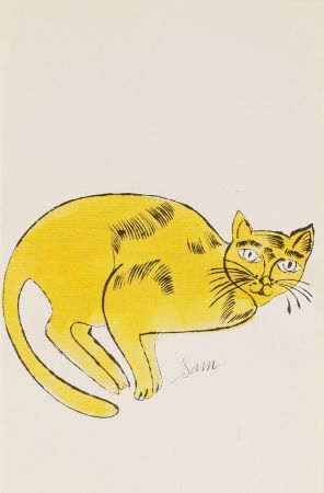 Lithographie Warhol - Sam (From 25 Cats named Sam and one blue Pussy, FS IV. 67A.)
