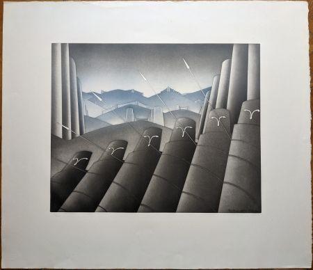 Lithographie Folon - Sans titre