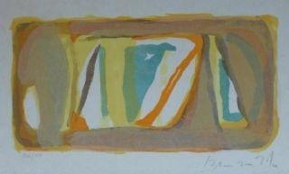 Lithographie Van Velde - Sans titre