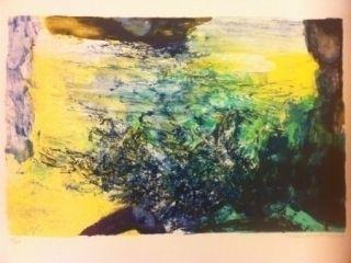 Lithographie Zao - Sans Titre