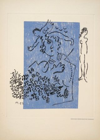 Kaltnadelradierung Chagall - Sans titre