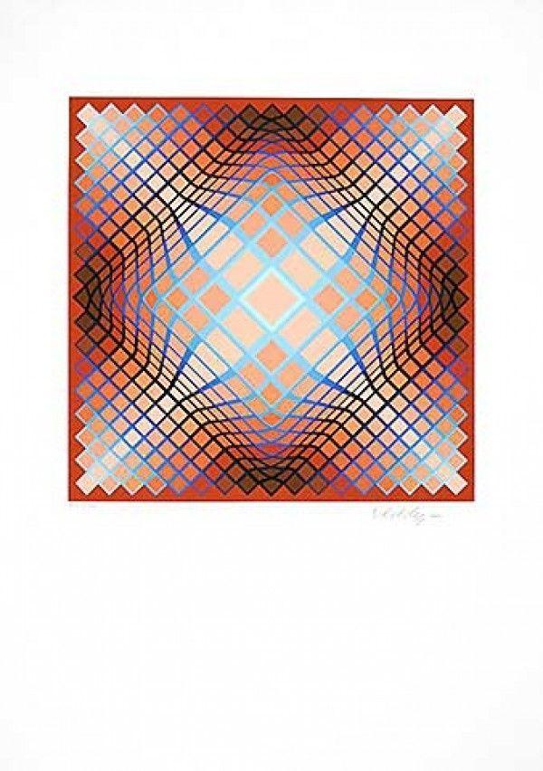 Lithographie Vasarely - Sans Titre 2