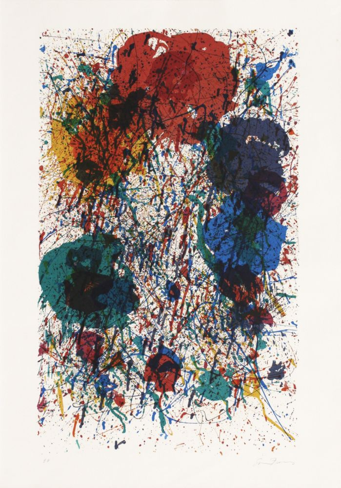 Lithographie Francis - Sans titre (Fondation Maeght)
