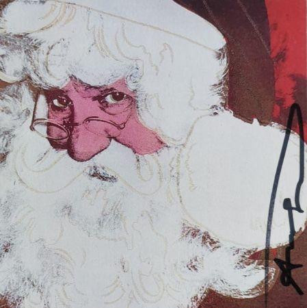 Siebdruck Warhol - Santa Claus