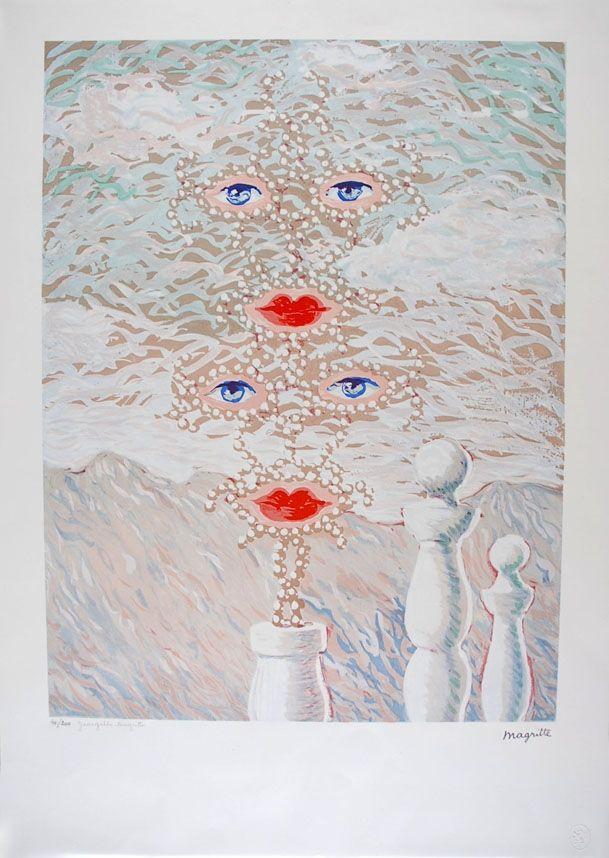 Lithographie Magritte - Schéhérazade - Scheherazade