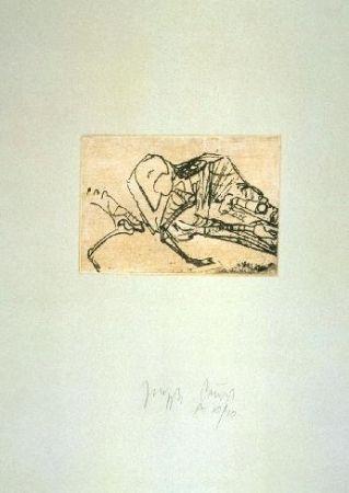 Radierung Und Aquatinta Beuys - Schafsskelett