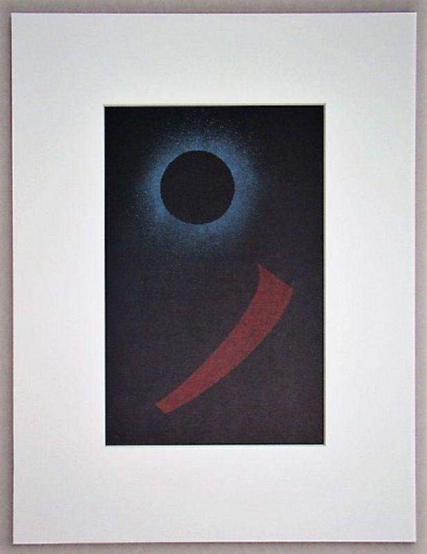 Lithographie Kandinsky - Schwarze Sonne, 1940