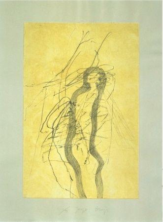 Radierung Und Aquatinta Beuys - Schwurhand: Blitz and Bienenkönigin