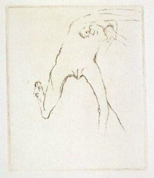 Stich Beuys - Schwurhand: Frau rennt weg mit Gehirn