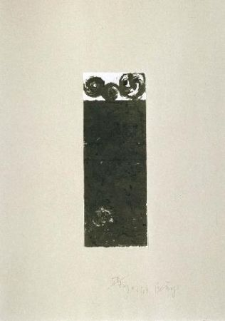 Lithographie Beuys - Scrolls