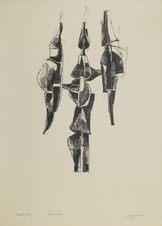Lithographie Hadzi - Scudi Series