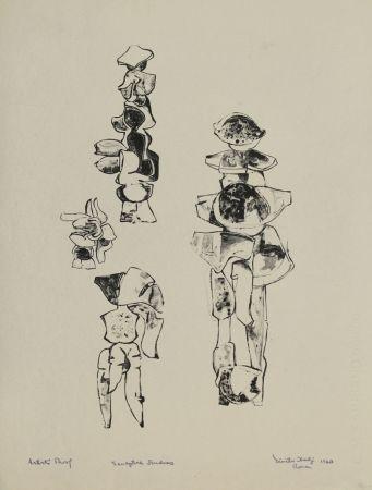 Lithographie Hadzi - Sculpture Studies