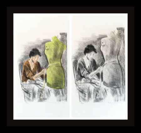 Lithographie Soyer - Seamstress II Portfolio