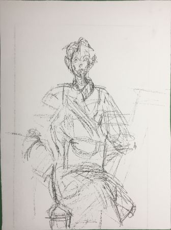 Lithographie Giacometti - Seated Figure (Derrière le Miroir n°127. 1961. Deluxe)