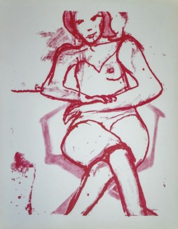 Lithographie Diebenkorn - Seated woman,