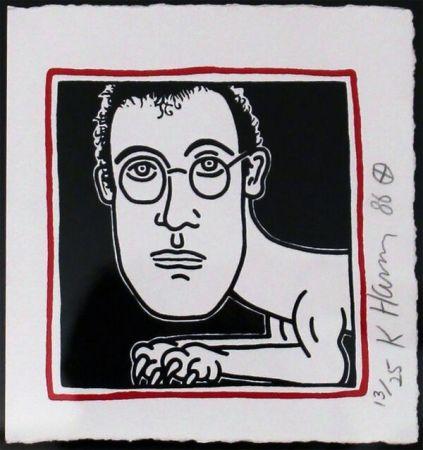 Siebdruck Haring - Self Portrait