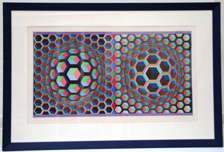 Lithographie Vasarely - Semiha