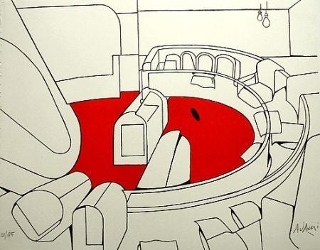 Lithographie Adami - Senza titolo