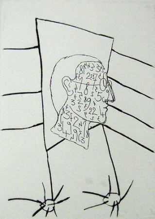 Kaltnadelradierung Paladino - Senza titolo