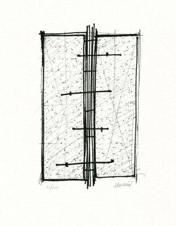 Lithographie Uncini - Senza titolo