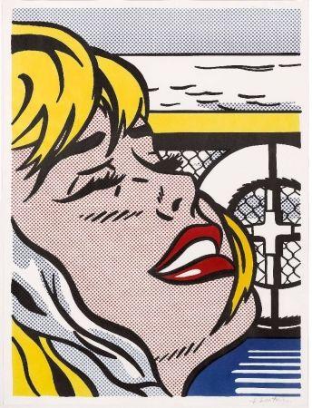 Lithographie Lichtenstein - Shipboard Girl (Corlett II. 6)