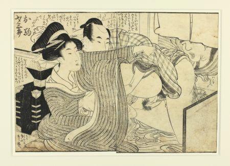 Holzschnitt Utamaro - Shunga