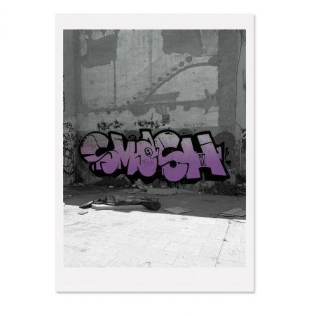 Siebdruck Falkner - Siesta Violett