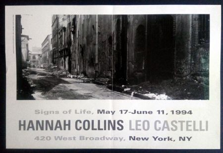 Plakat Collins - Signs of Life May 17- June 11 1994 Leo Castelli