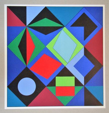 Siebdruck Vasarely - Sikra - 1966