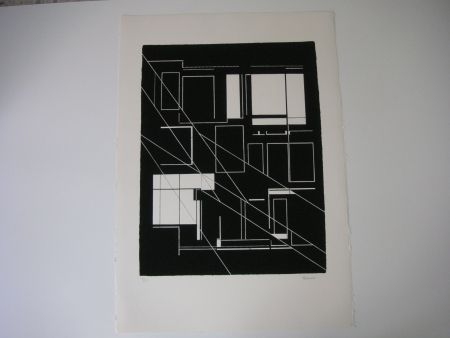 Lithographie Palazuelo - Sin Título