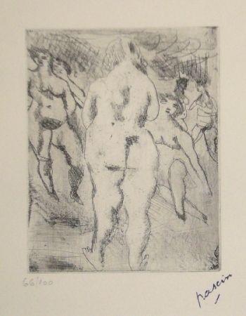 Kaltnadelradierung Pascin - Six Femmes nues