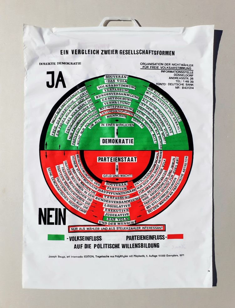 Siebdruck Beuys - So kann die Parteiendiktatur uberwunden werden