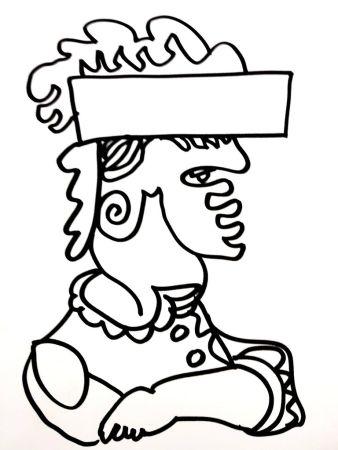 Lithographie Lapicque - Soldat