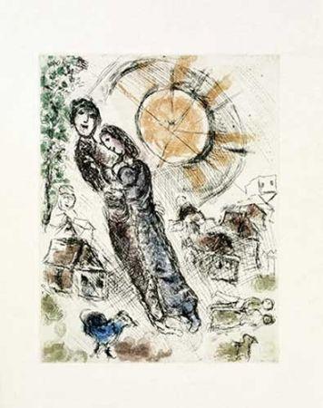 Stich Chagall - Soleil aux amoureux