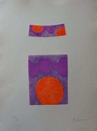 Radierung Und Aquatinta Manessier - Soleils Oranges