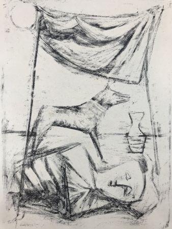 Lithographie Campigli - SOTTO LA TENDA