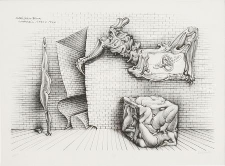 Lithographie Bellmer - Souterrain No. 13