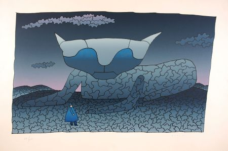Siebdruck Folon - Souvenir d'Alice