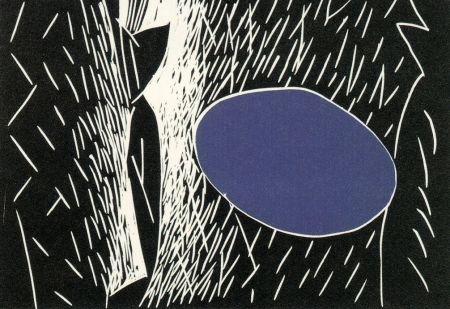 Linolschnitt Kuroda - Sparks I I I