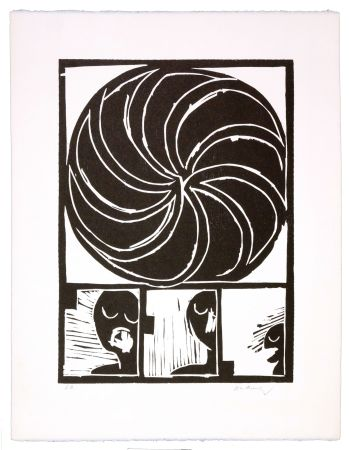 Holzschnitt Alechinsky - Spirale II