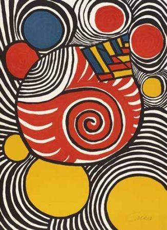 Lithographie Calder - Spirales Et Pyramides