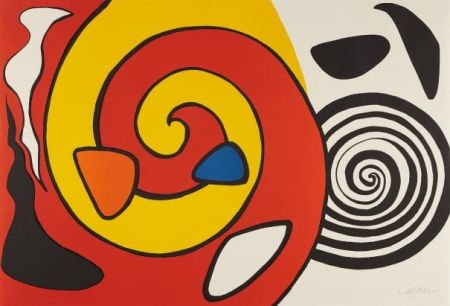 Lithographie Calder - Spirals And Forms