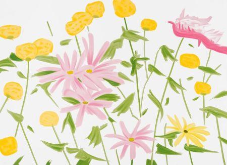 Siebdruck Katz - Spring Flowers
