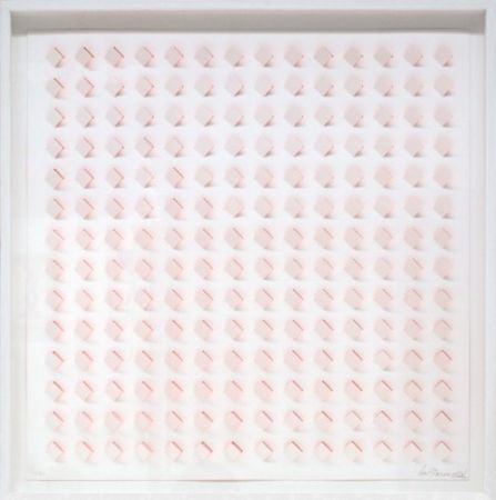 Lithographie Tomasello - S/T - 3 Rosa