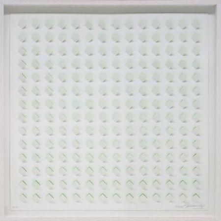 Lithographie Tomasello - S/T 3 - Verde