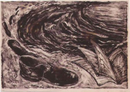 Lithographie Barcelo - S/T (zapato y libro)