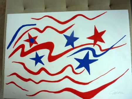 Lithographie Calder - Stars And Stripes