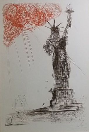 Radierung Dali - Statue Of Liberty